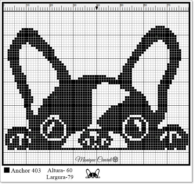 Gráfico Ponto Cruz Frenchie Bulldog (Buldogue Francês)
