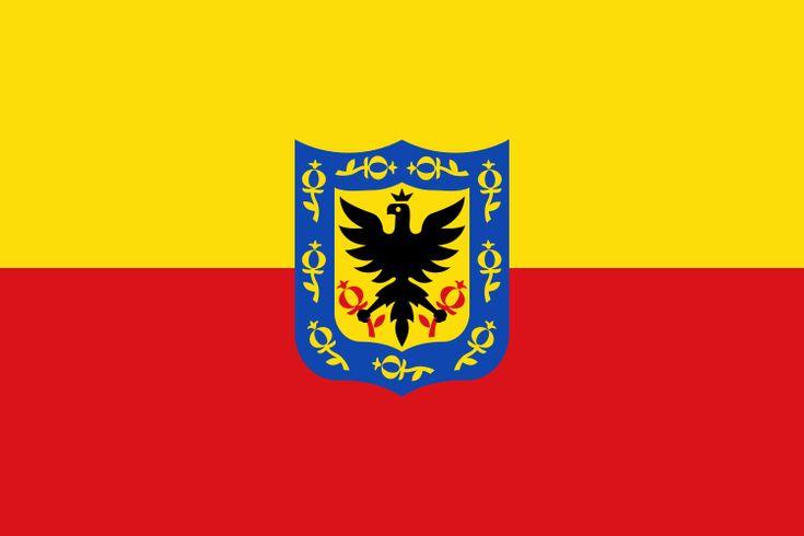 Flag of Bogotá, Colombia.