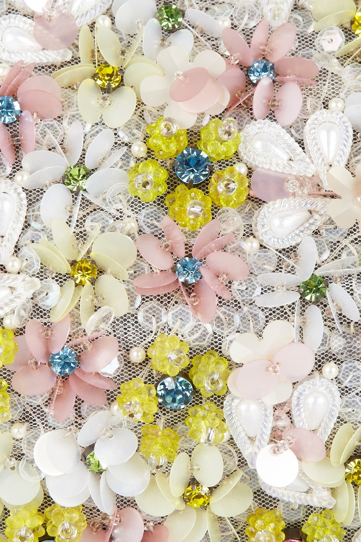 Marni...embellished with a plethora of iridescent beads and pink and lime pailettes.