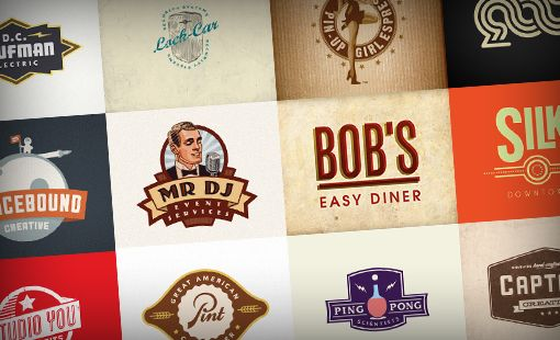 105 Remarkable Retro Logos curated by DesignShack. A logo I designed for Bob's is one of them :) ! YAY