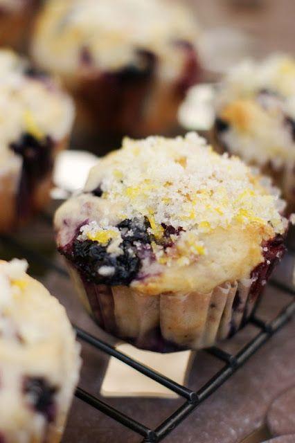 Double blueberry muffins w/ citrus sugar