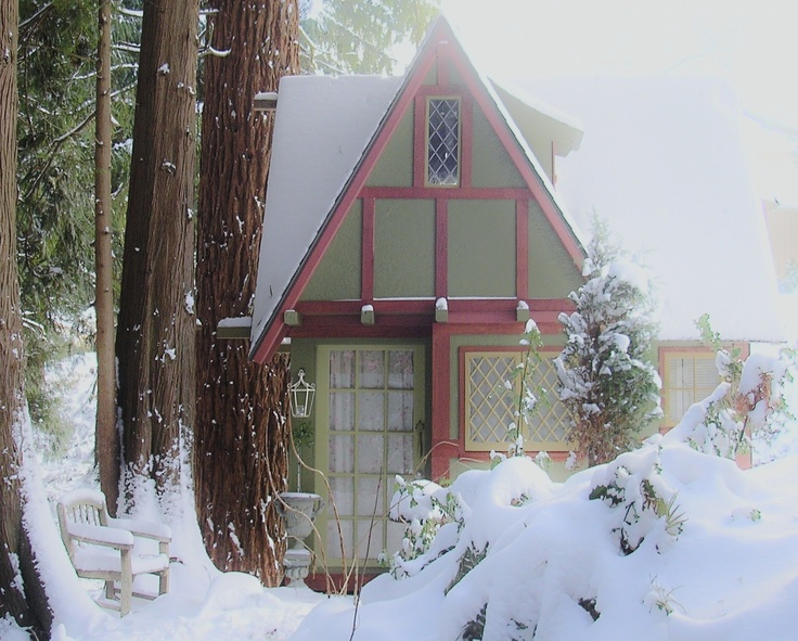 The Gardener's Cottage under a frosty spell.: Gardener Cottages, Glenngarann, Winter Magic, Fosti Spelling, Frosty Spelling, Beautiful Gardens, Gardens Cottages, The Roller Coasters