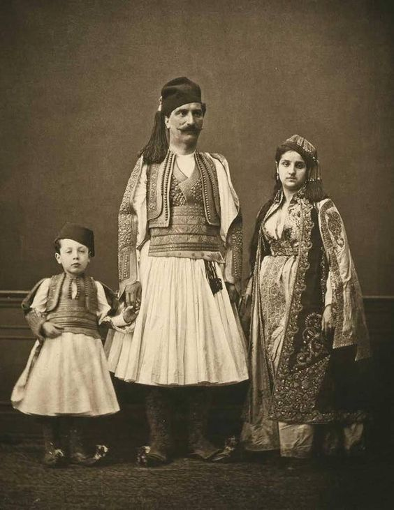 Albanian family from Janina (Ioannina today in Greece) by Pascal Sebah, 1873.
