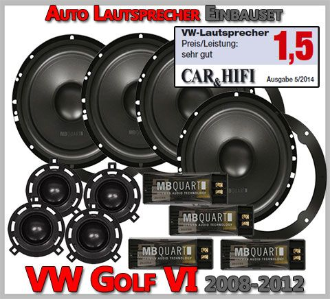 vw golf vi lautsprecher komplettset test car hifi note. Black Bedroom Furniture Sets. Home Design Ideas