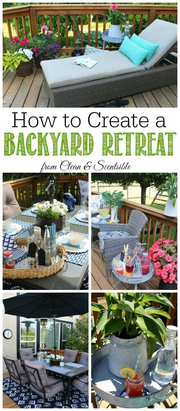 Great tips for creating your own backyard patio oasis to relax and entertain in!