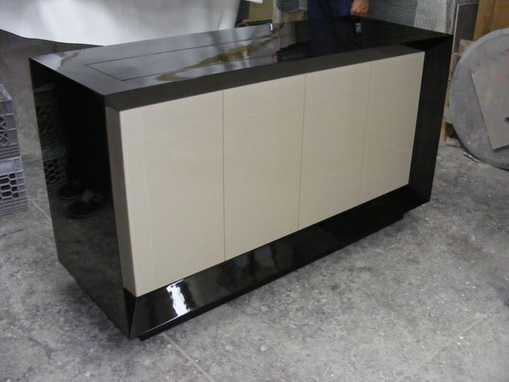 custom black lacquer popup tv cabinet for those who want more room to there