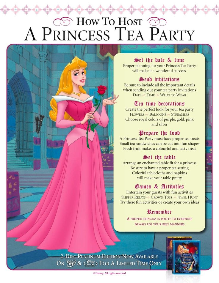 Princess Aurora's tips for hosting a princess tea party