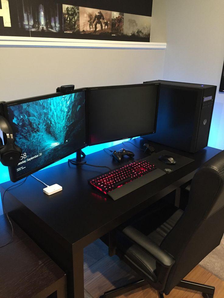 540 best pc images on pinterest computer setup desk setup and pc setup. Black Bedroom Furniture Sets. Home Design Ideas