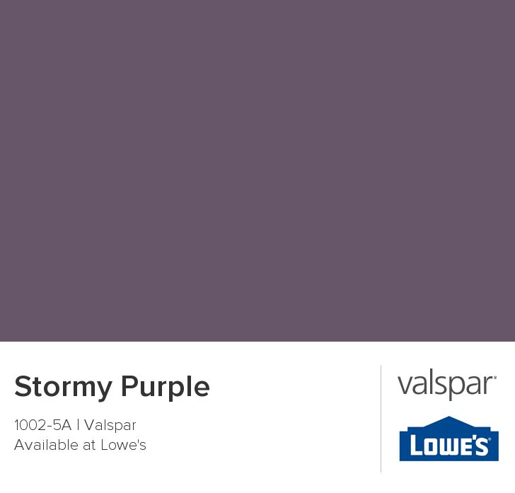 Stormy Purple from Valspar
