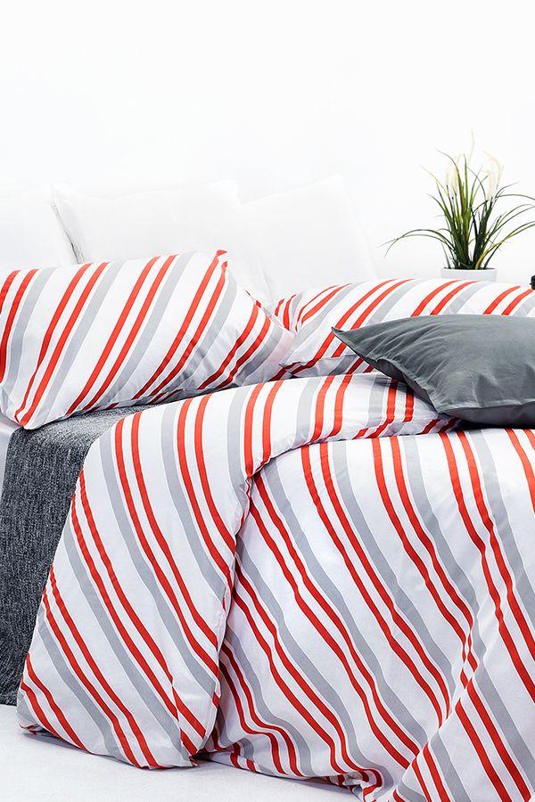 Red Stripe Design Duvet Cover Set Duvet Cover Sets Cotton Duvet Cover King Size Duvet Covers