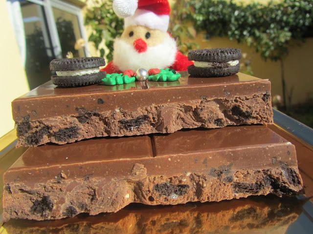 Turrón de chocolate y oreos de Thermomix realizadas por Ana Sevilla