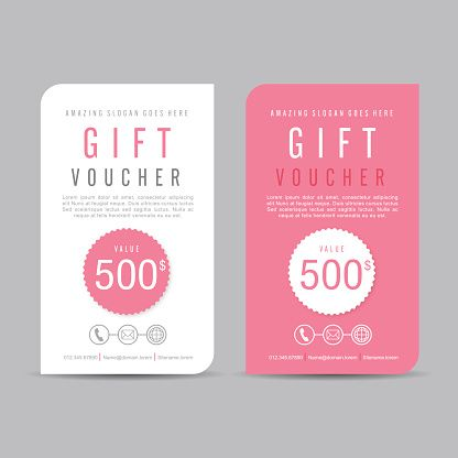 Vector Art : Gift Voucher 166 More  Free Discount Vouchers