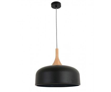 Sunraysia 380mm Pendant in Matt Black/Ash   Modern Pendants   Pendant Lights   Lighting