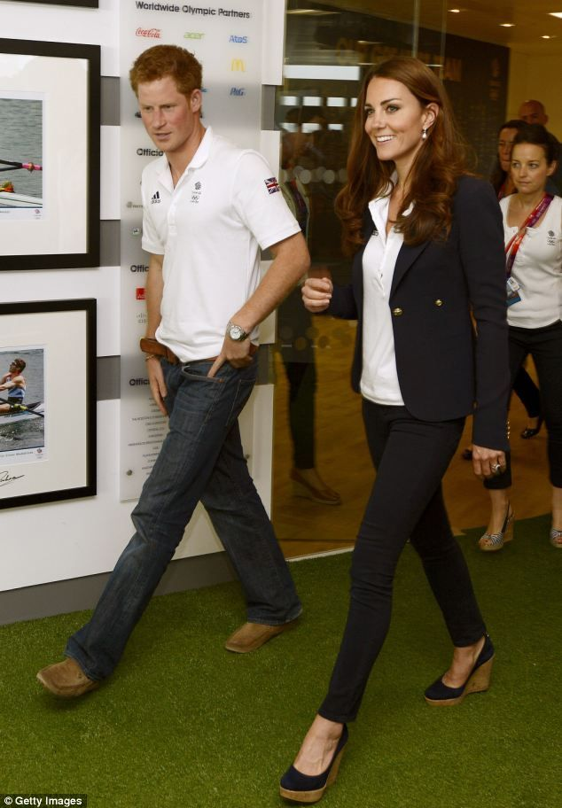Prince Harry and the Duchess of Cambridge visiting the Team GB House in the Westfield Centre. August 9, 2012
