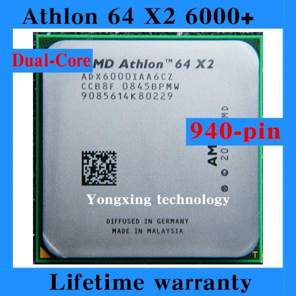 For Athlon 64 X2 6000+ 3.0GHz 2M Dual Core desktop processors PC CPU Socket AM2 940 pin