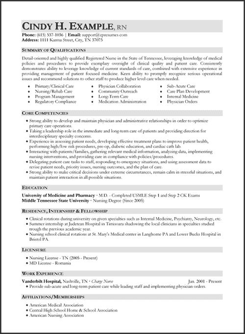resume samples  types of resume formats examples