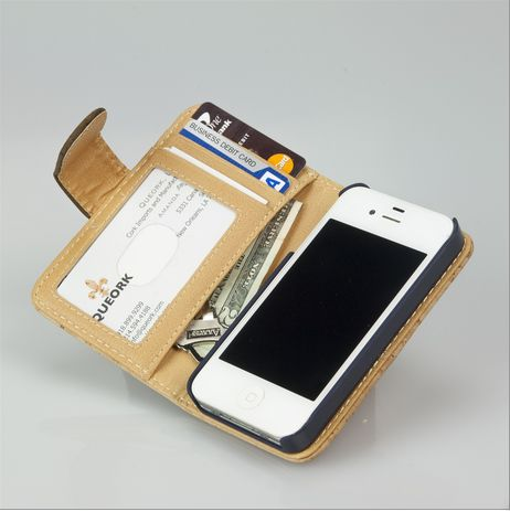 IPhone Wallet Case - Natural Cork.