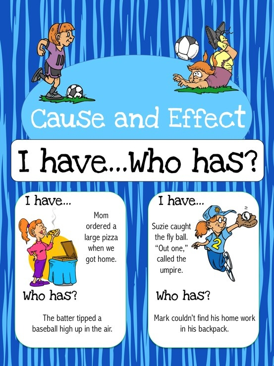 This cause and effect game is big enough to be used as a class but can also be used for small group, centers, morning warm-up, etc. The cards are intended to help students learn cause and effect relationships. There are a total of 56 cause and effect cards included in this resource. $3