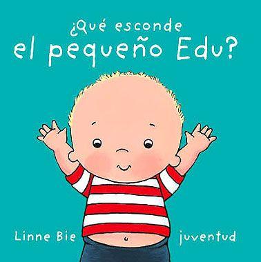 """""""¿Qué esconde el pequeño Edu?""""     El pequeño Edu ha inventado un juego muy divertido: esconde la cabeza y la boca, las orejas... ¿Qué esconde detras de la espalda? ¡Cucú! ¡Aquí están las manos del pequeño Edu!  Un librito con adivinanzas para descubrir el cuerpo."""