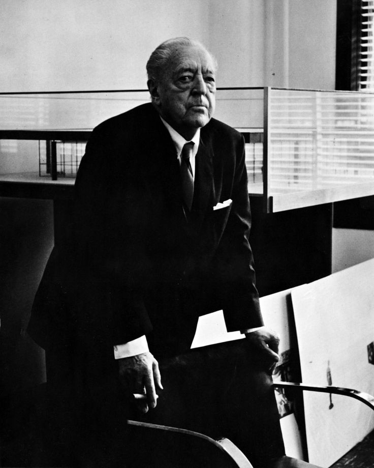 Ludwig Mies van der Rohe, architect.
