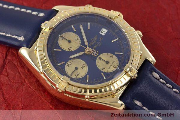 gebrauchte Luxusuhr Breitling Chronomat Chronograph 18k Gold Automatik Kal. B13 ETA 7750 Ref. K13047X  | 153222 15