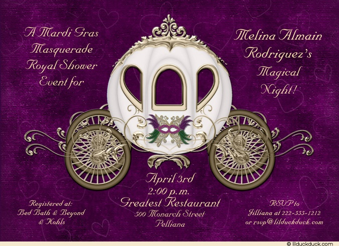 masquerade princess bride shower invitation royal mardi gras shower pinterest invitations bridal shower and shower invitations