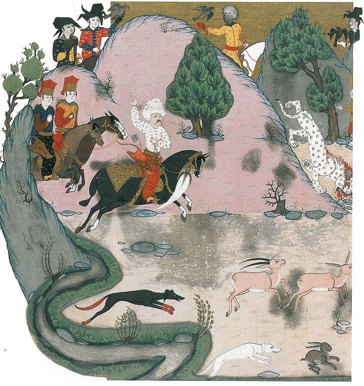 Yavuz Sultan Selim, kaplan avlarken