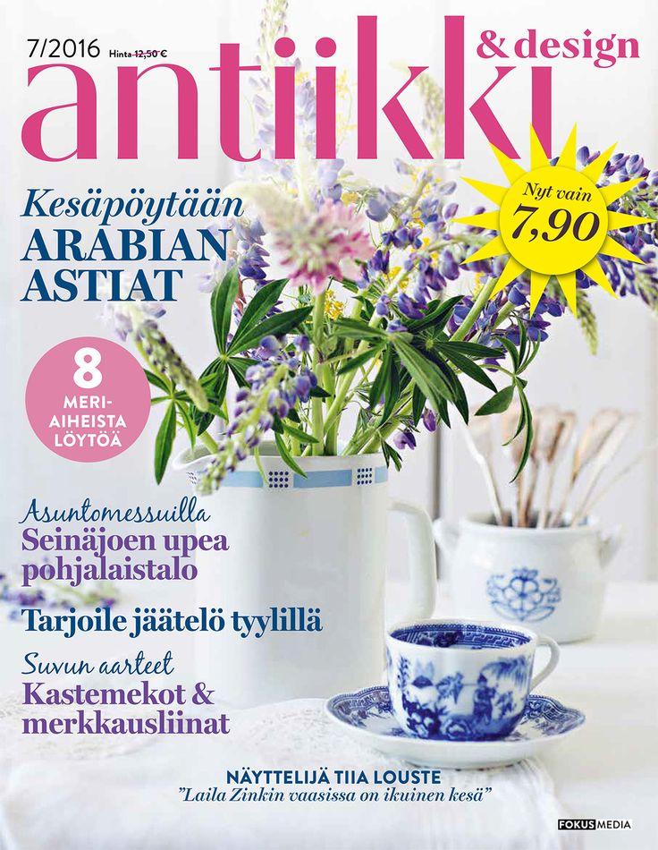 Antiikki & Design 7/2016 kansi. Photo Pia Inberg. Style Irene Wichmann