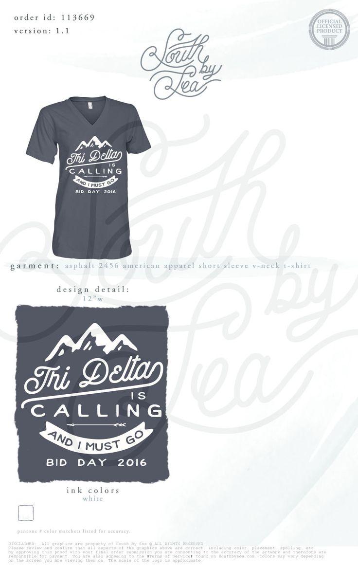 Tri Delta | Tri Delt | Bid Day | Recruitment | Mountain Design | Tri Delta is…