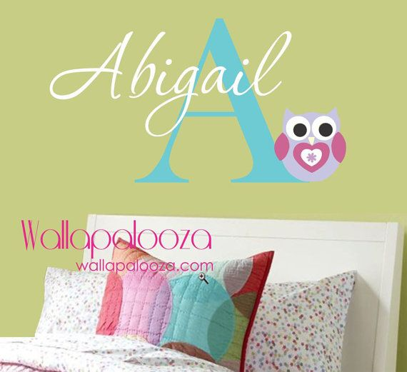 Girls Name Wall Decal  Childrens Wall Decals by WallapaloozaDecals, $30.00