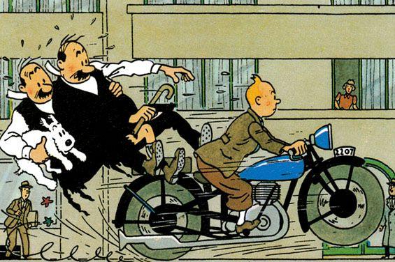 Tintin et les deux-roues
