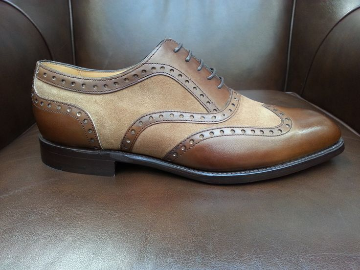 Barker Cambridge brown calf and snuff suede