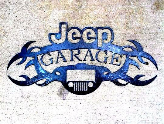 Jeep Garage Sign. $50.00, via Etsy. this too