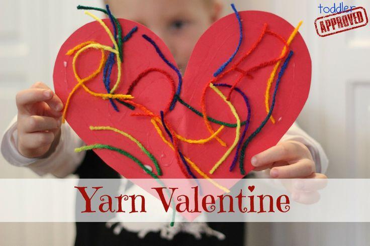 Toddler Approved!: Simple Yarn Valentine. Super easy toddler valentine craft.