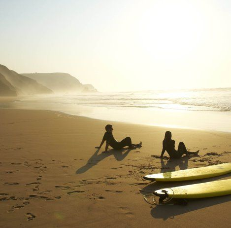 Portugal is the perfect destination to get active - Martinhal beach resort has amazing fitness programmes and a beautiful beach to surf on!