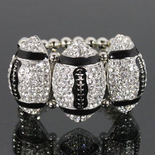 Love this!!  Football Fashion Stretch Bracelet