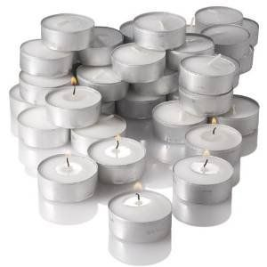 80 Pcs Unscented Tealight Candle White Tea Light Candles for Wedding Party LOT *** For more information, visit image link.