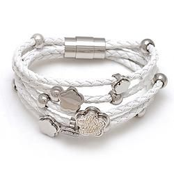 Leather Braid Bracelets Flower