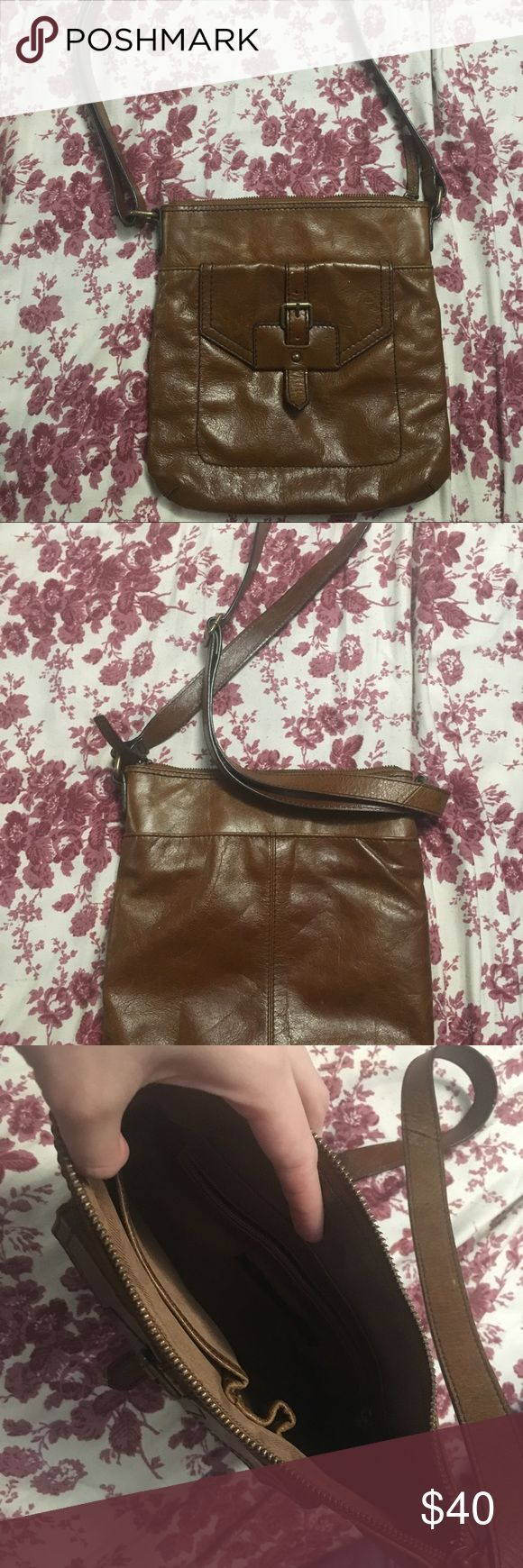 Marks & Spencer cross body real leather bag Real leather. Vintage. Brown leather. Good condition Marks & Spencer Bags Crossbody Bags