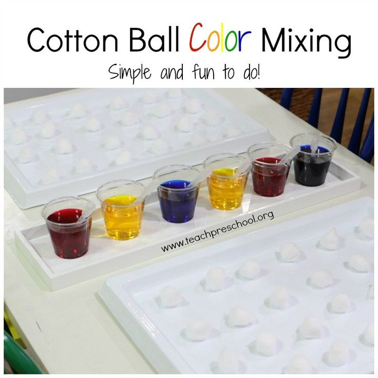 If you haven't ever tried cotton ball color mixing with your students, then let me encourage you to give it a go! It is such a simple process and yet engaging to a mixed age group of students. Here is how it works... The invitation The invitation to explore