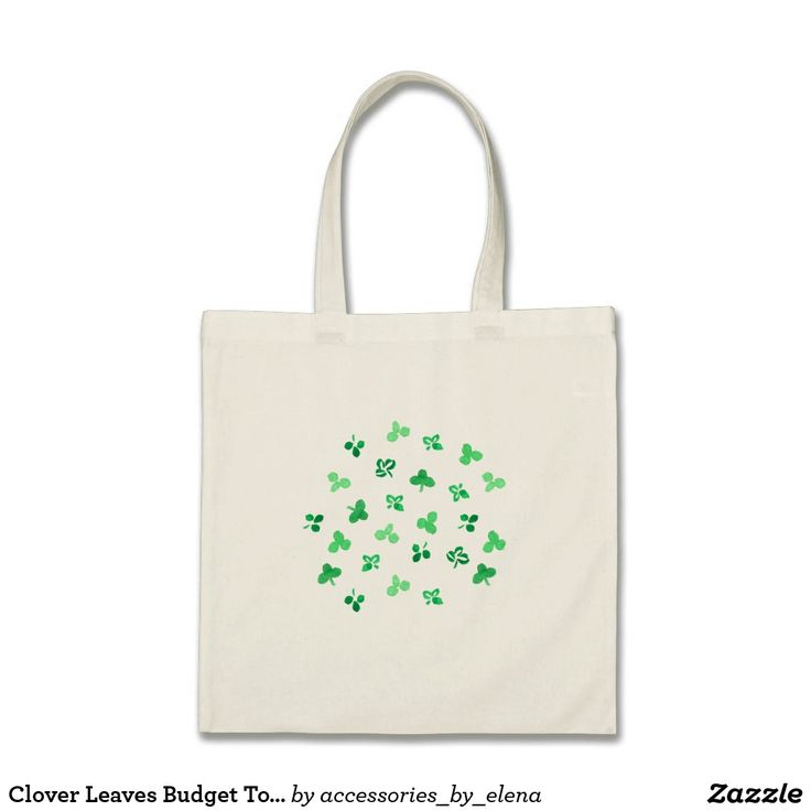 Clover Leaves Budget Tote