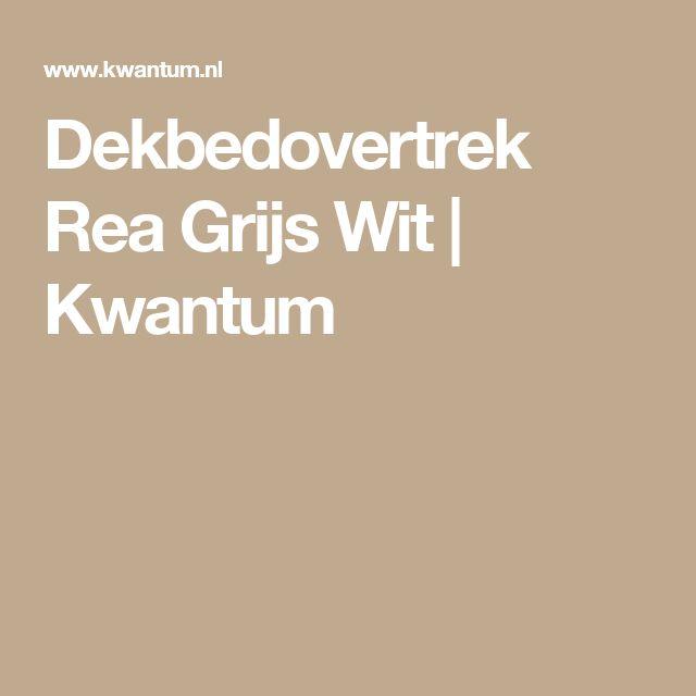 Dekbedovertrek Rea Grijs Wit | Kwantum