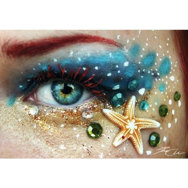 Beautifully Dramatic, Artistic Eye Make-Up That Is Inspired By Nature ❤ liked on Polyvore featuring makeup, eyes, backgrounds y eye makeup
