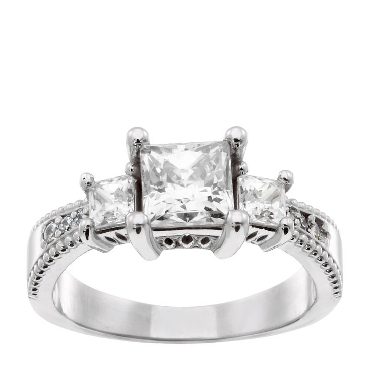 25 best images about Three Stone Rings on Pinterest