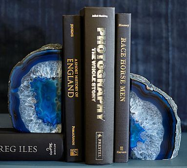 Agate Bookends #potterybarn these are beautiful!