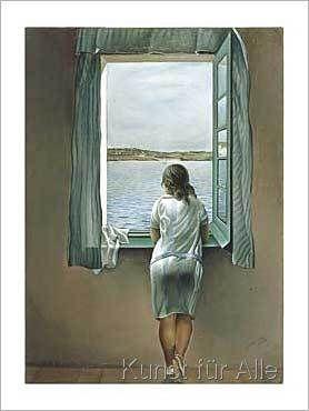 Salvador Dalí - Person am Fenster
