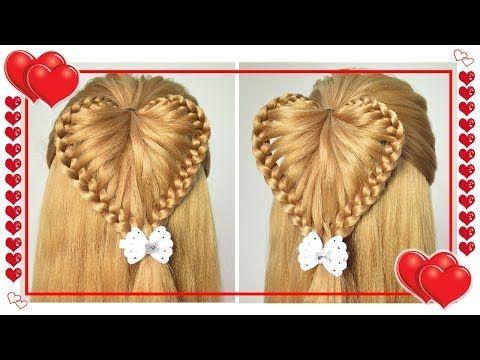 Peinados Corazon en Relieve - Trenzas para Niñas - Fiestas - la Escuela - Casuales - YouTube
