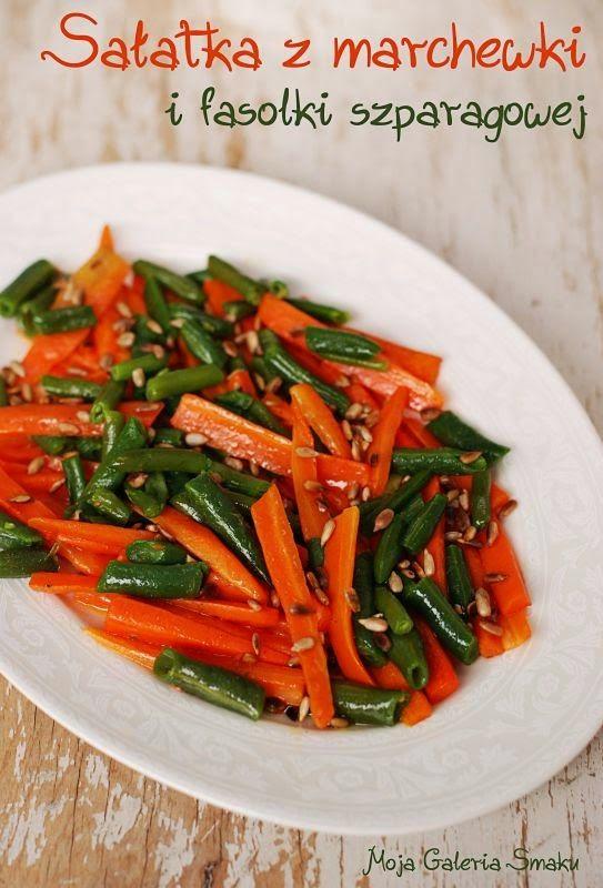 Sałatka z marchewki i fasolki
