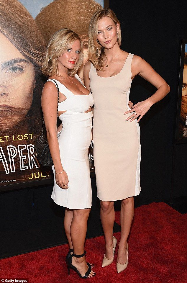 Sister act! Karlie Kloss and her sister Kimberly, 20, attended the Paper Towns premiere in New York on Tuesday