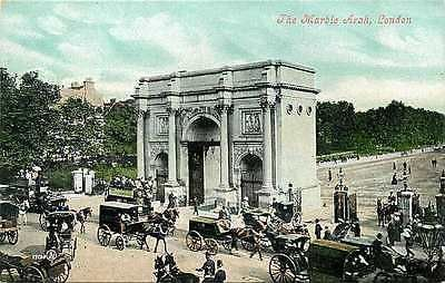 London England UK 1907 Marble Arch Buckingham Palace Antique Vintage Postcard                                                                                                                                                                                 More